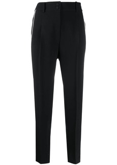 Nº21 piped stripe cropped trousers