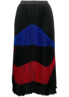 Nº21 Pleated Colourblock Skirt