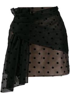 Nº21 polka-dot mesh mini skirt