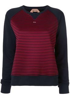 Nº21 printed logo striped sweatshirt