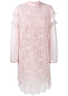 Nº21 ruffled embroidery dress