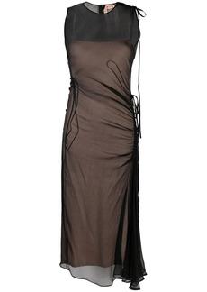 Nº21 semi-sheer ruched dress