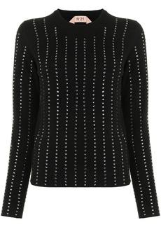 Nº21 sequin embellished jumper