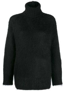 Nº21 shaggy knit oversized turtleneck jumper