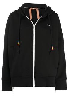 Nº21 side zip logo hoodie