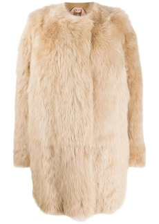 Nº21 single-breasted fur coat