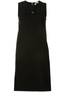 Nº21 sleeveless buckle-detail dress