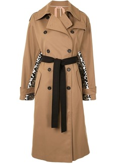 Nº21 Spotted Chine Print-Panel Trench Coat