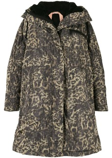 Nº21 Spotted Chine-Print Parka