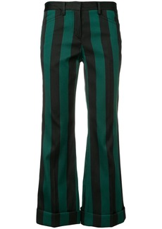 Nº21 striped cropped trousers