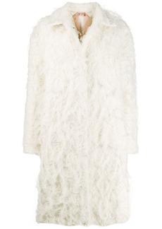 Nº21 textured midi coat