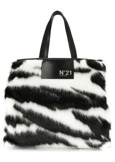 Nº21 zebra pattern tote bag