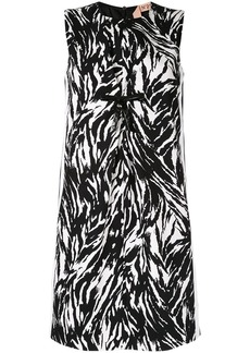 Nº21 zebra patterned short dress