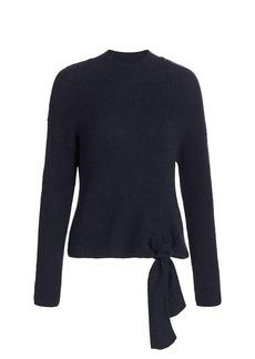 Naadam Mockneck Side-Tie Sweater