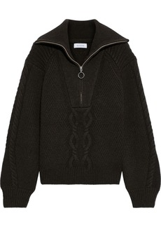 Naadam Woman Cable-knit Wool And Cashmere-blend Sweater Forest Green