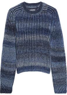 Naadam Woman Dégradé Ribbed Wool-blend Sweater Indigo