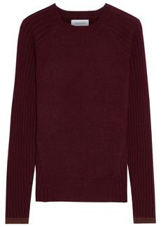 Naadam Woman Paneled Ribbed Cashmere Sweater Merlot