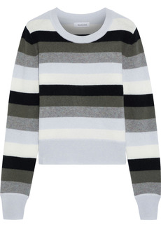 Naadam Woman Striped Cashmere Sweater Gray