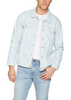Naked & Famous Denim Men's Oversized Jacket-Powder Blue Power Stretch Pale M