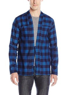 Naked & Famous Denim Men's Real Indigo Buffalo Check Kimono Shirt
