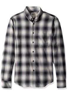 Naked & Famous Denim Men's Regular Shirt-Ombre Flannel- M