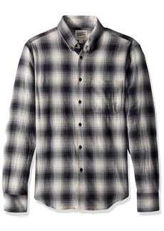 Naked & Famous Denim Men's Regular Shirt-Ombre Flannel  M