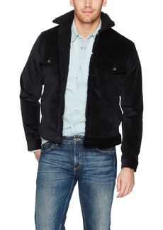 Naked & Famous Denim Men's Sherpa Jacket- Stretch Corduroy L