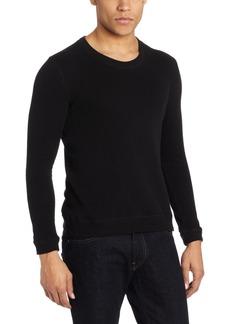 Naked & Famous Denim Men's Slim Fit Long Sleeve Double Face Knit Shirt