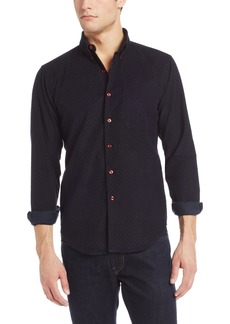 Naked & Famous Denim Men's Slim Shirt Cord with Red Dots