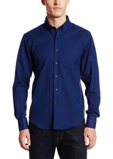 Naked & Famous Denim Men's Soft Herringbone Regular Fit Woven Shirt