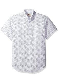 Naked & Famous Denim Men's Spring Flower Print Short Sleeve Button Down Shirt