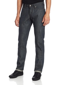 Naked & Famous Denim Men's Weird Guy Tapered Leg  Selvedge Jean in Gren
