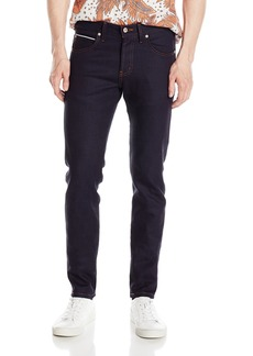 Naked & Famous Denim Men's X Natural  Slub Stretch Selvedge Super Guy Jean