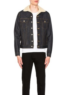 Naked & Famous Denim Sherpa Jacket Left Hand Twill