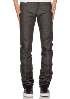 Naked & Famous Denim Skinny Guy Charcoal Selvedge
