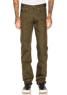 Naked & Famous Denim Weird Guy Khaki Green Selvedge Chino