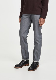 Naked & Famous Weird Guy Denim in Grey Selvedge Wash