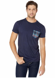 Naked & Famous Pocket Tee - Navy/Blue Rustic Nep Flannel