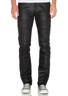 Naked & Famous Skinny Guy Wax Coated Black Stretch 11 oz.