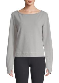 Nancy Rose Performance Carter Cotton-Fleece Sweatshirt