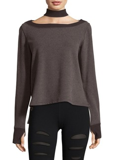 Nancy Rose Performance Storm Choker-Neck Sweatshirt