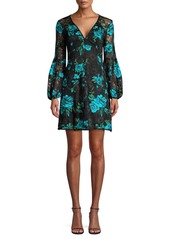 Nanette Lepore Aerial Floral-Embroidered Lace Shift Dress