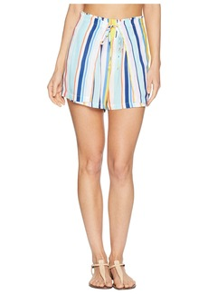 Nanette Lepore Amalfi Coast High-Waist Wrap Shorts Cover-Up