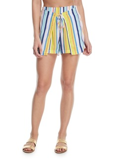 Nanette Lepore Amalfi Coast Striped Cotton Coverup Shorts