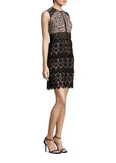 Amaretto Lace & Leopard-Print Dress