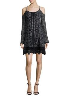 Nanette Lepore Blackjack Lace Cold-Shoulder Dress