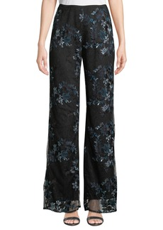 Nanette Lepore Blissful Embroidered Lace Pants