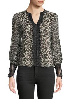 Nanette Lepore Brazen Blouse in Leopard-Print Silk