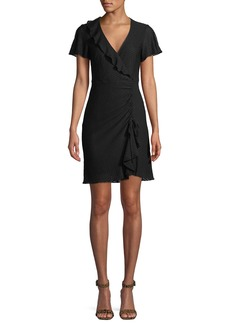 Nanette Lepore Calming Slit-Sleeve Dress w/ Ruffles