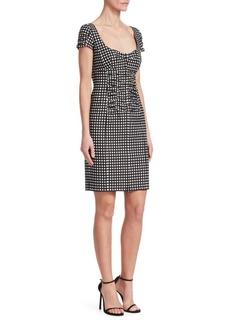 Nanette Lepore Check Me Out Front Zip Dress